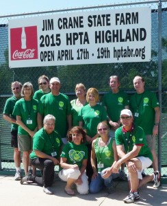 2015 HOTT Team members (kneeling l-r) Joycelyn LeBlanc, Christine LeBlanc, Kari Klotzbach, and Gary Mollere (standing l-r) Bill Sanner, Lisa Sanner (tournament director), Erin Achberger, Rusty Jabour, Debbie Klotzbach, Sandra Harshbarger, Mike Doyle, and Mike Fournet. Not pictured is Jim Strathe.